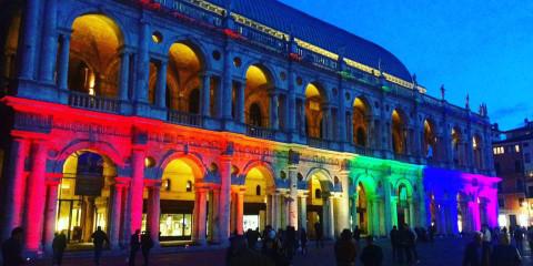 basilica palladiana vicenza illuminata laed colori